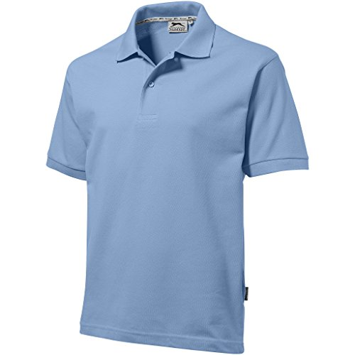 Slazenger - Polo - - Col boutonné Homme Bleu Blue - Light Blue