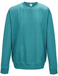 Plain Hawaiian Blue Sweatshirts, crew neck sweatshirt PLUS 1 T SHIRT with set-in sleeve sweatshirts