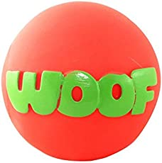 Pawcloud Squeaky Vinyl | Woof Dog Ball | Squeaky Dog Toy for Small, Medium Dog Breed | Multicolor