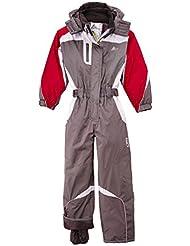 Peak Mountain Geniax - Mono de esquí para niña, color gris - gris, tamaño 12 años