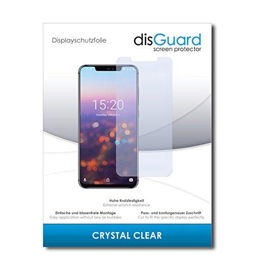 disGuard® Displayschutzfolie [Crystal Clear] kompatibel mit UMIDIGI Z2 Pro [2 Stück] Kristallklar, Transparent, Unsichtbar, Extrem Kratzfest, Anti-Fingerabdruck - Panzerglas Folie, Schutzfolie