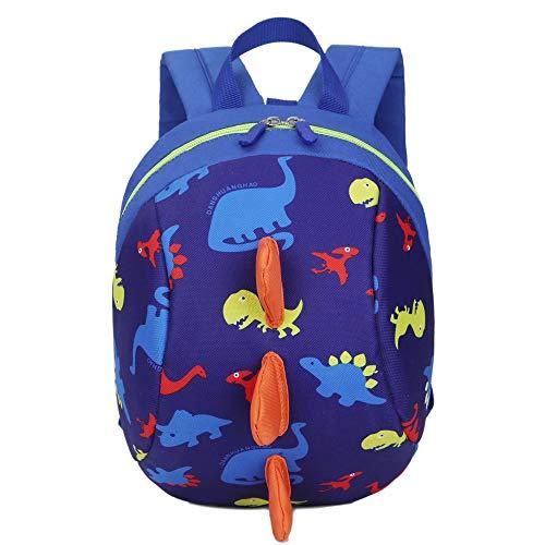 """YWLINK Kinder Süß Komisch 3D Cartoon Dinosaurier Tierrucksack Baby Kleinkind Schultasche Daypacks Rucksackhandtaschen MäDchen Jungen Rucksack (Dunkelblau,20cm(L)/26cm(H)/12cm(W)(7.9""""/10.2""""/4.7)"""