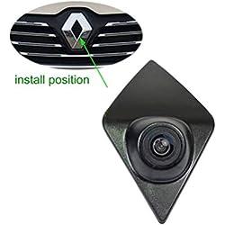 Misayaee voiture Front View caméra Logo Embarqué avant caméra Night Vision Parking Étanche Wide Degree (Middle) pour Renault Koleos Renault Kadjar Captur Espace from 2015