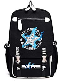 Cosstars Black Rock Shooter BRS Anime Mochila Escolar Estudiantes Mochila  para Portátil Backpack Bolsa Casual 1b2dd4b308fd1