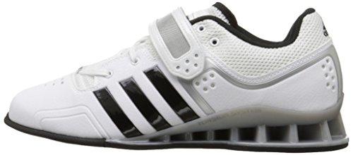 adidas Performance Adipower Weightlifting Trainer Shoe – White/Black/Tech Grey, UK 10