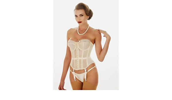 97558b63e26 What Katie Did Lana 1950s Vintage Merry Widow Basque  Amazon.co.uk  Clothing