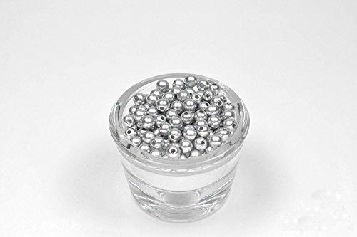 Perle 100 Rondes Plastique 6 mm de diametre (Gris 012)