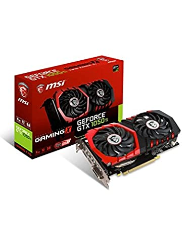 MSI GeForce GTX 1050TI Gaming X 4GB Nvidia GDDR5 1x HDMI, 1x DP, 1x DL-DVI-D, 2 Slot Afterburner OC, Gaming App,