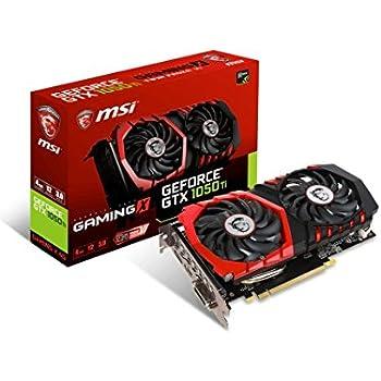 MSI GeForce GTX 1050 Ti Gaming X 4G Scheda Grafica, Interfaccia PCIe 3.0, 4 GB GDDR5, 128bit, 768 Cuda Cores, Nero