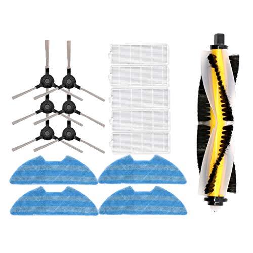 B Blesiya 13pcs Roboterstaubsaugerset, mit Hepafilter, Seitenbürste, Hauptbürste, Wischtuch für Proscenic 811GB 911S
