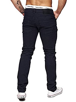 SOLID Mens Skinny Jeans Slim Fit Cut Pants Skinny Stretch Pants Jeans Destroyed Distressed Demin Wash L32/W32