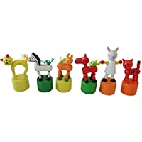 Winkey Toy for 1 2 3 4 5 Years Old Kids Girls Boys, Kids Intelligence Toy Dancing Stand Colorful Rocking Animal Wooden Toy