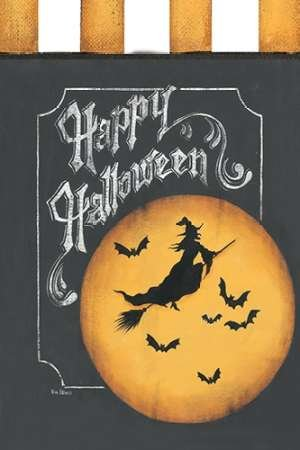 Feeling at Home Feelingathome.it-LEINWANDDRUCK-Happy-Halloween-Flagge-cm82x54-poster-bild-auf-leinwand -