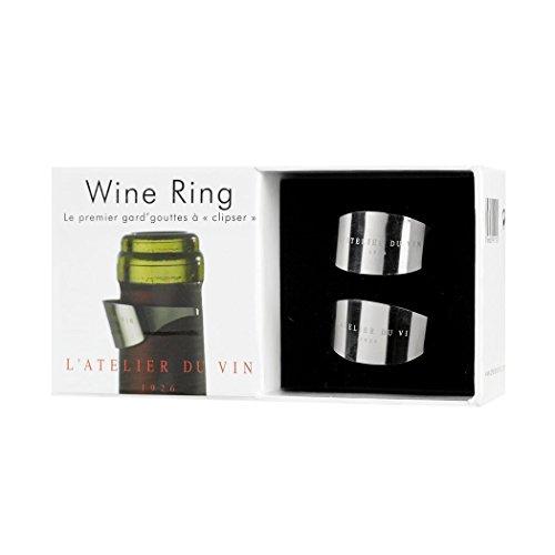 L'Atelier du Vin 095191-2 Tropfring, Edelstahl poliert - 2er Box