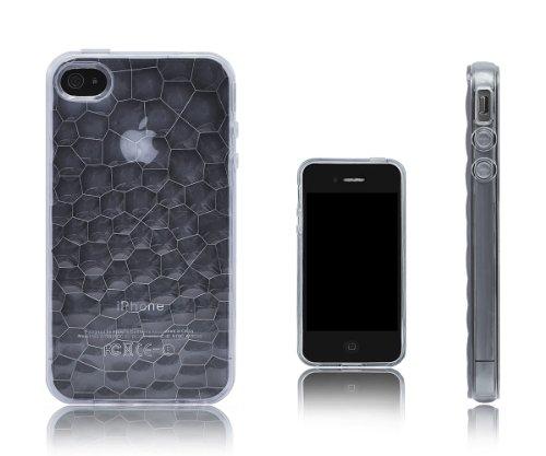 Liquid Cell Accessory Department Coque en polyuréthane thermoplastique avec Ripple Illusion optique pour Apple iPhone 4/4S Noir transparent