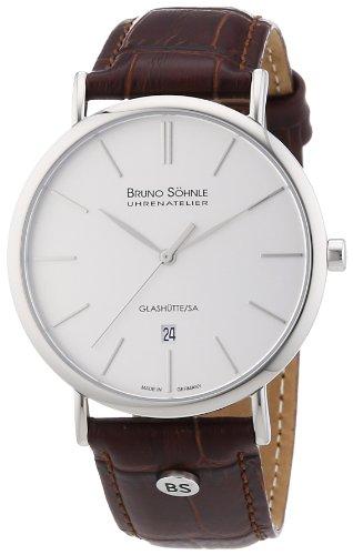 Bruno Söhnle Herren-Armbanduhr XL Nabucco Analog Quarz Leder 17-13085-241