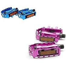 Pedales para Bici, Bicicleta de Montaña y Motocross en Azul o Rosa (Rosa)