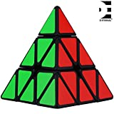 #3: D ETERNAL Rubiks Rubix Pyramid Cube 3x3 Speed Triangle Pyraminx Puzzle Cube, Black