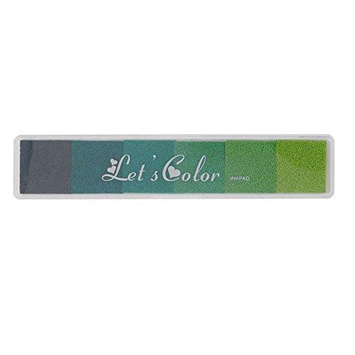 Ficony Stamp Gradient Inkpad Fingerprint Ink Pads DIY Craft Scrapbooking Accessories(Green) Scrapbooking