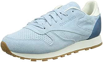 Reebok  Classic Leather Bread & Butter, Sneakers Basses femme - Bleu - Blau (Zee Blue/Chalk/Tough Blue/Gum), 37 EU