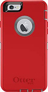 OtterBox DEFENDER iPhone 6/6s Case - Retail Packaging - FIRE WITHIN (SLEET GREY/SCARLET RED)
