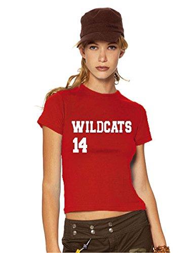 Maglietta da donna con motivo Wildcats 14di High School Musical, Donna, M