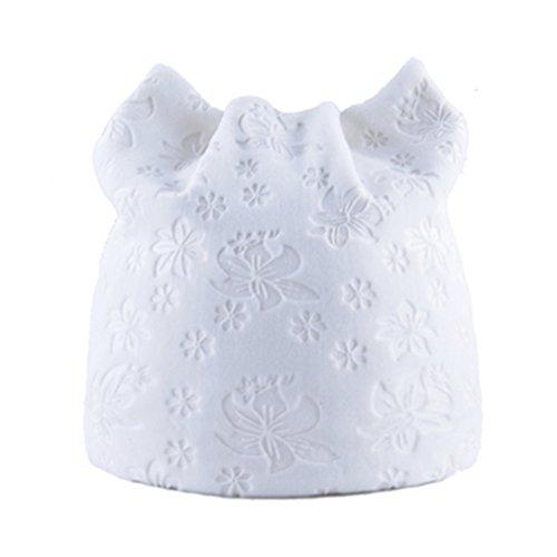 EJKDF Herbst-Warmer Winter-Hut für Frauen Beanie-Hüte mit Kappen-Damen-Blumen-Druck-Mützen White