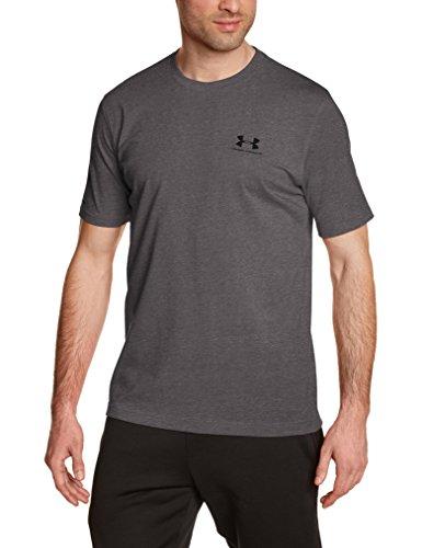 Under Armour Herren Fitness Cc Left Chest Lockup Kurzarm T-Shirt, Carbon Heather, XL, 1257616