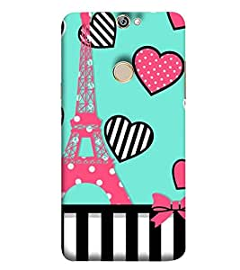 Takkloo Eiffel Tower ( vibrant tower of london, Sketch of tower, Blue Background, Pink Eiffel tower) Printed Designer Back Case Cover for Coolpad Max A8