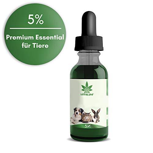 VITAL24-5{2ce1c680cb8af992487155a32ed44055e2ad30b962f59e315274c304cfd2e795} Premium Vital Tropfen für Hunde (10ml) - 250 TROPFEN