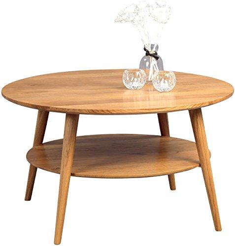 HomeTrends4You 247222 Couchtisch, Holz, wildeiche massiv geölt, 80 x 80 x 45 cm