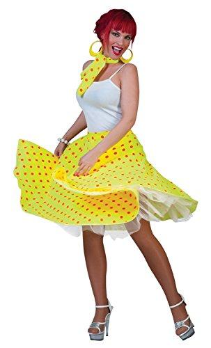 Damen Sexy 1950er 50s POLKA DOT ROCK HEN DO Punkten gepunktet schwarz weiß rot blau grün gelb pink Fancy Kleid Kostüm Outfit (Schwarz Polka Dot Kleid Kostüm)