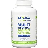 APOrtha Multi essential Amino Pattern | 8 verschiedene Aminosäuren | 240 Tabletten | vegan preisvergleich bei fajdalomcsillapitas.eu