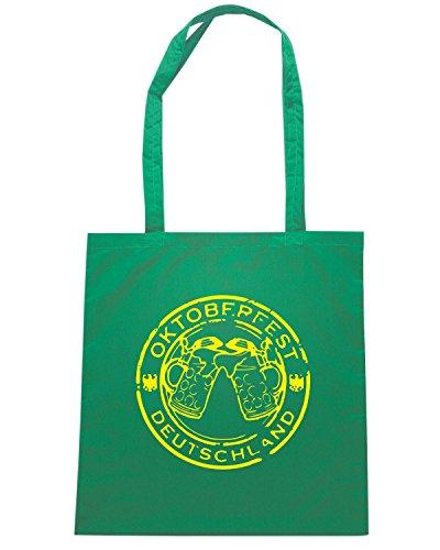 T-Shirtshock - Borsa Shopping BEER0110 OKTOBERFEST-STAMP-BY-PASTICHE Verde