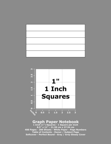 Graph Paper Notebook: 1 Inch (1