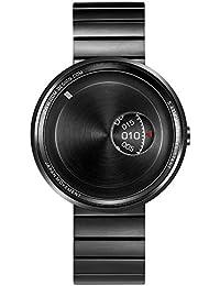 "ODM ""Film Camera"" Cuarzo Acero Inoxidable Cepillado IP Negro Malla Reloj Unisex"