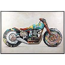 Moycor Cuadro Lisboa Moto, Tela, Multicolor, 90x60x5 cm
