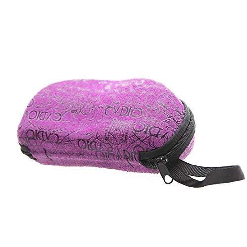 Lankater Sonnenbrillen Fall Mit Reißverschluss UnisexEyewear Hüllen Soft-Sonnenbrille Abdeckung Für Womem Männer (Lila)