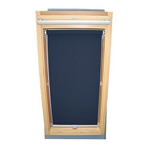 Hochwertiges Sichtschutzrollo Rollo für Velux RG-EP VL,VG,VX 085 dunkelblau // Sichtschutzrollo/Sichtschutz-Rollo/Fensterrollo