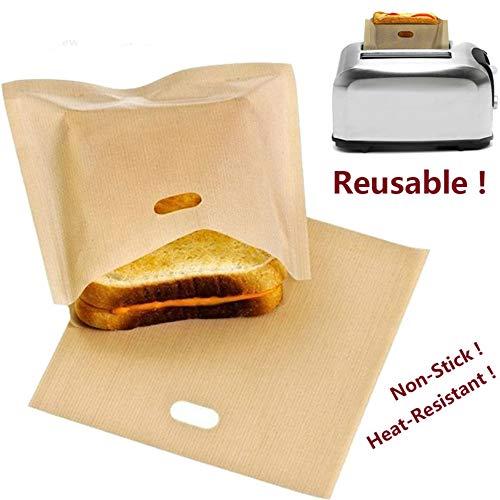 5 bolsas pan reutilizables tostadoras sándwich revestimiento