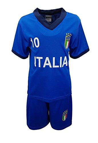 Unbekannt Fussball Fan Set Italien Italia Trikot + Shorts in Blau, Gr. 104, JSn77b.4