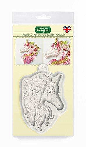 Einhorn Silikon Form Sammlung für Kuchen Dekoration, Cupcakes, Sugarcraft, Süßigkeiten, Basteln, Karten und Ton, Lebensmittelecht - Ton Formen