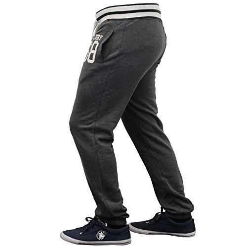 Hommes Bas Tokyo Laundry Pantalon Jogging De Course Polaire Doublée Hiver Charbon - 1F8357