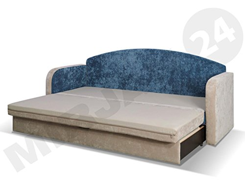 🛋 Schlafsofa Tenus II, Sofa Couch mit Bettkasten und ...