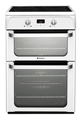 Hotpoint HUI612P Double Oven Electric Induction Cooker White Best Price and Cheapest