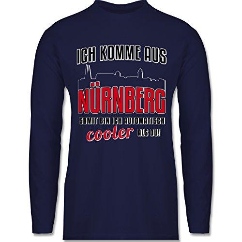 Shirtracer Städte - Ich Komme Aus Nürnberg - Herren Langarmshirt Navy Blau