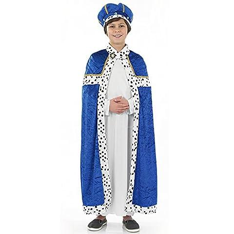 Blauer Weise Krippenspiel Kostüm Kinder Gr. M (Krippenspiel König Kostüm)
