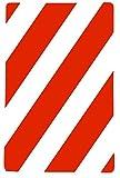 takestop® SET 3 PEZZI CARTELLI CARTELLO strisce oblique bianco rosso 30x20 cm TARGA SEGNALETICA DIREZIONALE SICUREZZA AVVERTIMENTO