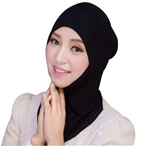 Hougood Hijab Kopftuch Muslim Hijab Schal für Damen Mädchen Hijab Schal Muslim Kopftuch Einfarbig Hijab Underscarf Cap Frauen Wrap Hijab Arabien Islam Turban Hijab Kopfstück Grundlegende Stil
