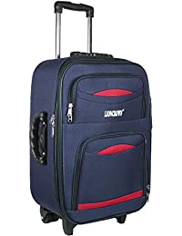 Lioncrown Polyester 55cm Expandable Softsided Trolley Cabin Luggage   Carry-On   Travel Bag